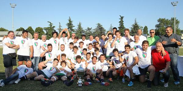 FINALE UNDER 18: Rugby Colorno-Benetton Treviso 15-51. Benetton Treviso Campione d'Italia